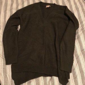 F21 dark green sweater